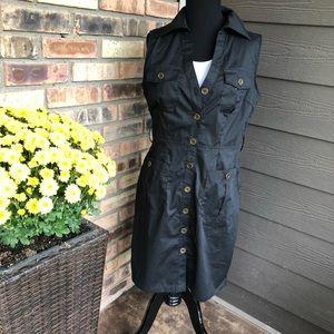 NWT Dots Black shirt dress size M